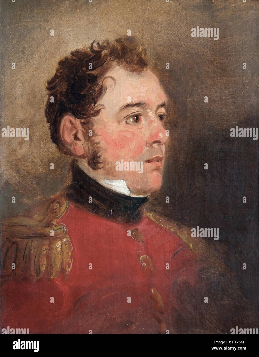 Portrait of General Sir James Shaw Kennedy, British soldier, 1821. Artist: Jan Willem Pieneman. - Stock Image