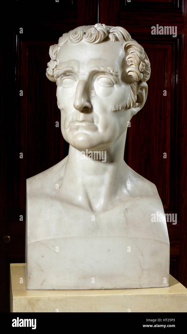 Bust of the Duke of Wellington, Apsley House, London, c2000s. Artist: Historic England Staff Photographer. - Stock Image