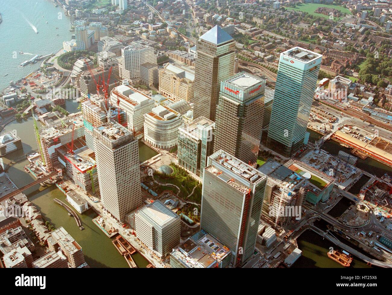 Canary Wharf, Docklands, Poplar, London, c2000s. Artist: Unknown. - Stock Image