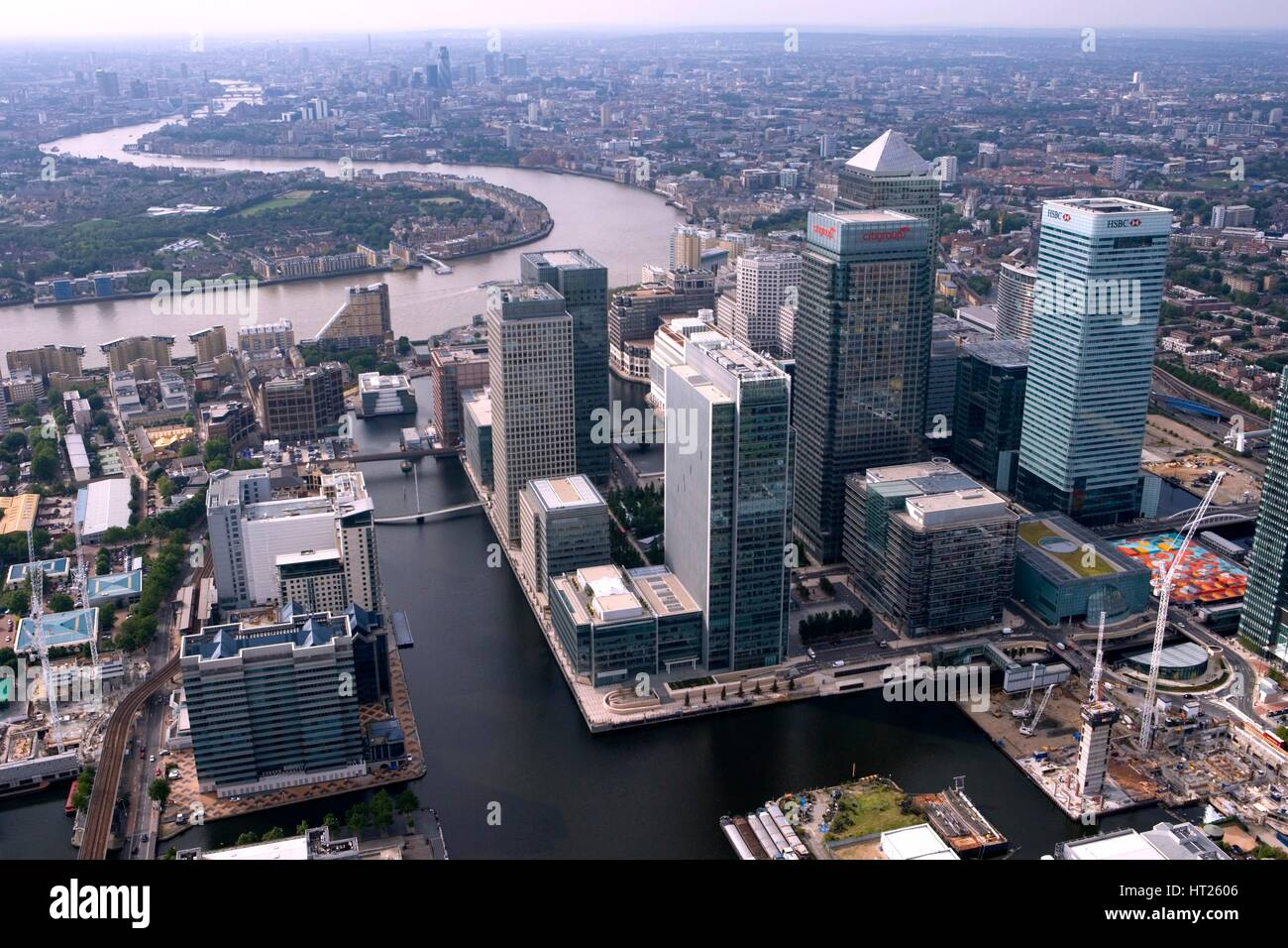 Canary Wharf, Docklands, London, 2006.  Artist: Historic England Staff Photographer. - Stock Image