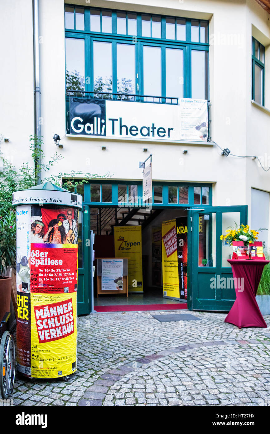 Berlin Mitte. Galli Theatre in the Heckmannhöfe (Heckmann Courtyard). Venue for live theatrical events & - Stock Image