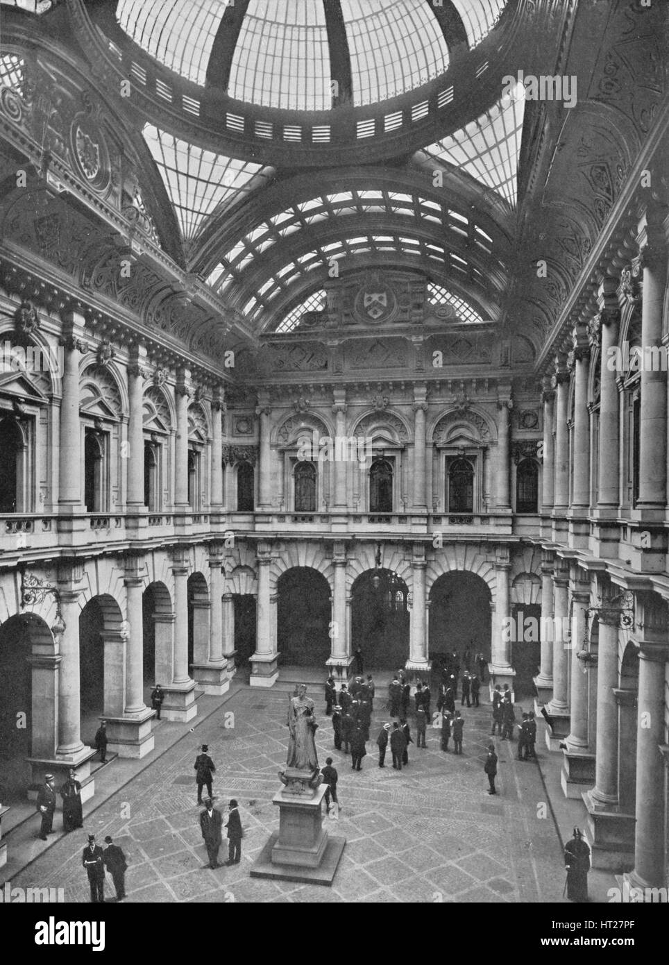 Interior of the Royal Exchange, City of London, c1910 (1911). Artist: Unknown. - Stock Image
