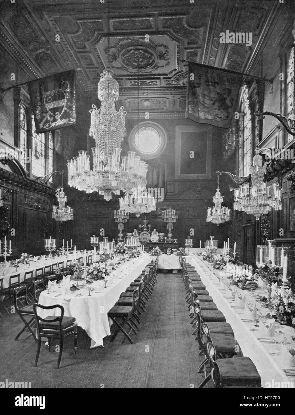 Interior of Mercers' Hall, City of London, c1910 (1911). Artist: Sandell Ltd. - Stock Image