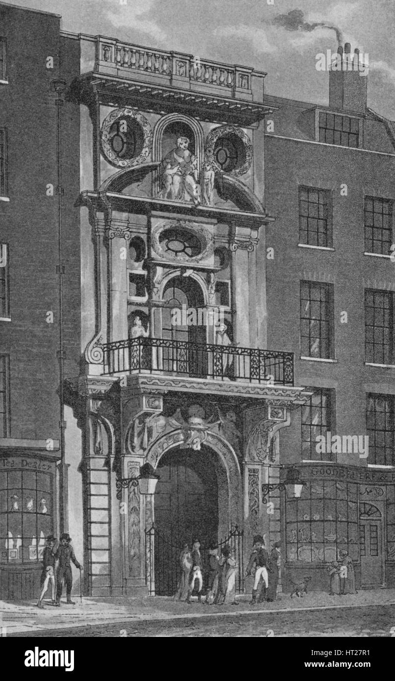 Mercers' Hall, Cheapside, City of London, c1830 (1911). Artist: Sandell Ltd. - Stock Image