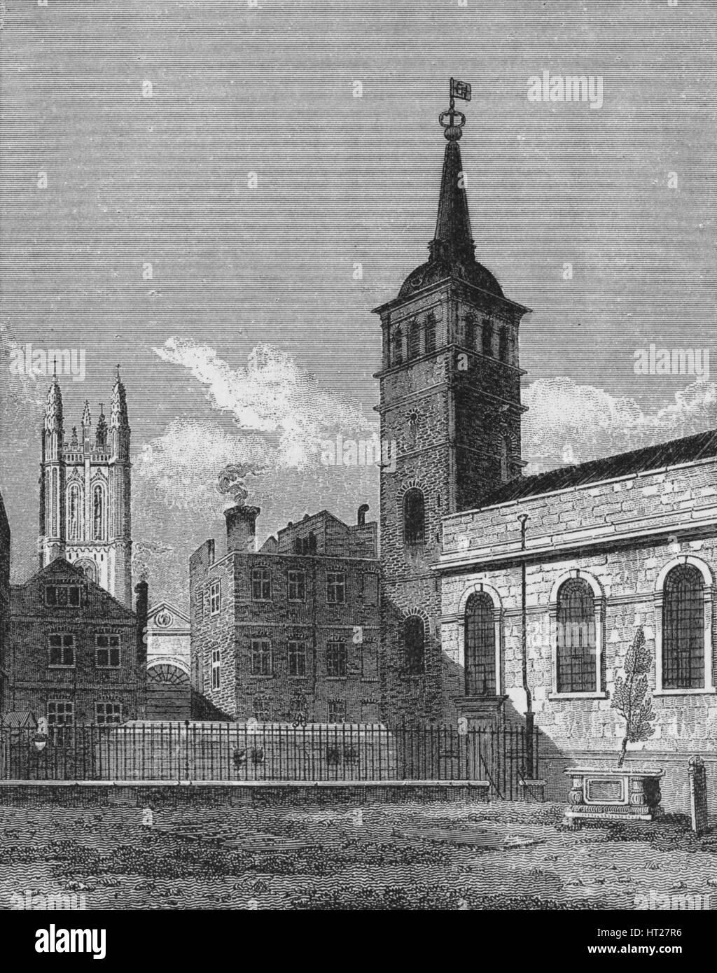 St Peter's Church, Cornhill, City of London, 1811 (1911). Artist: George Sidney Shepherd. - Stock Image