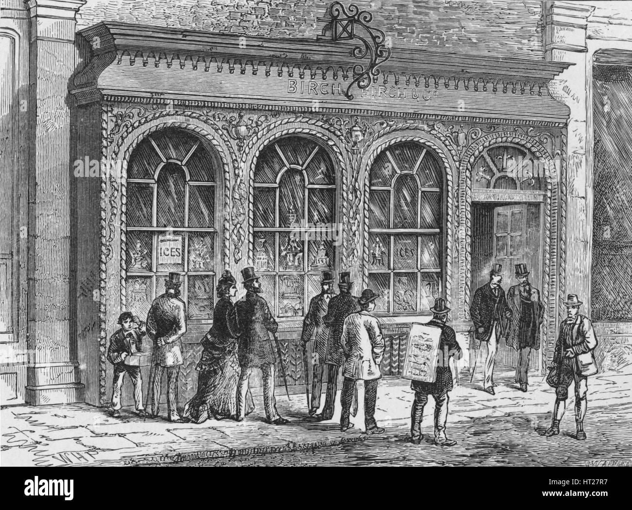 Birch's confectionery shop, Cornhill, City of London, 19th