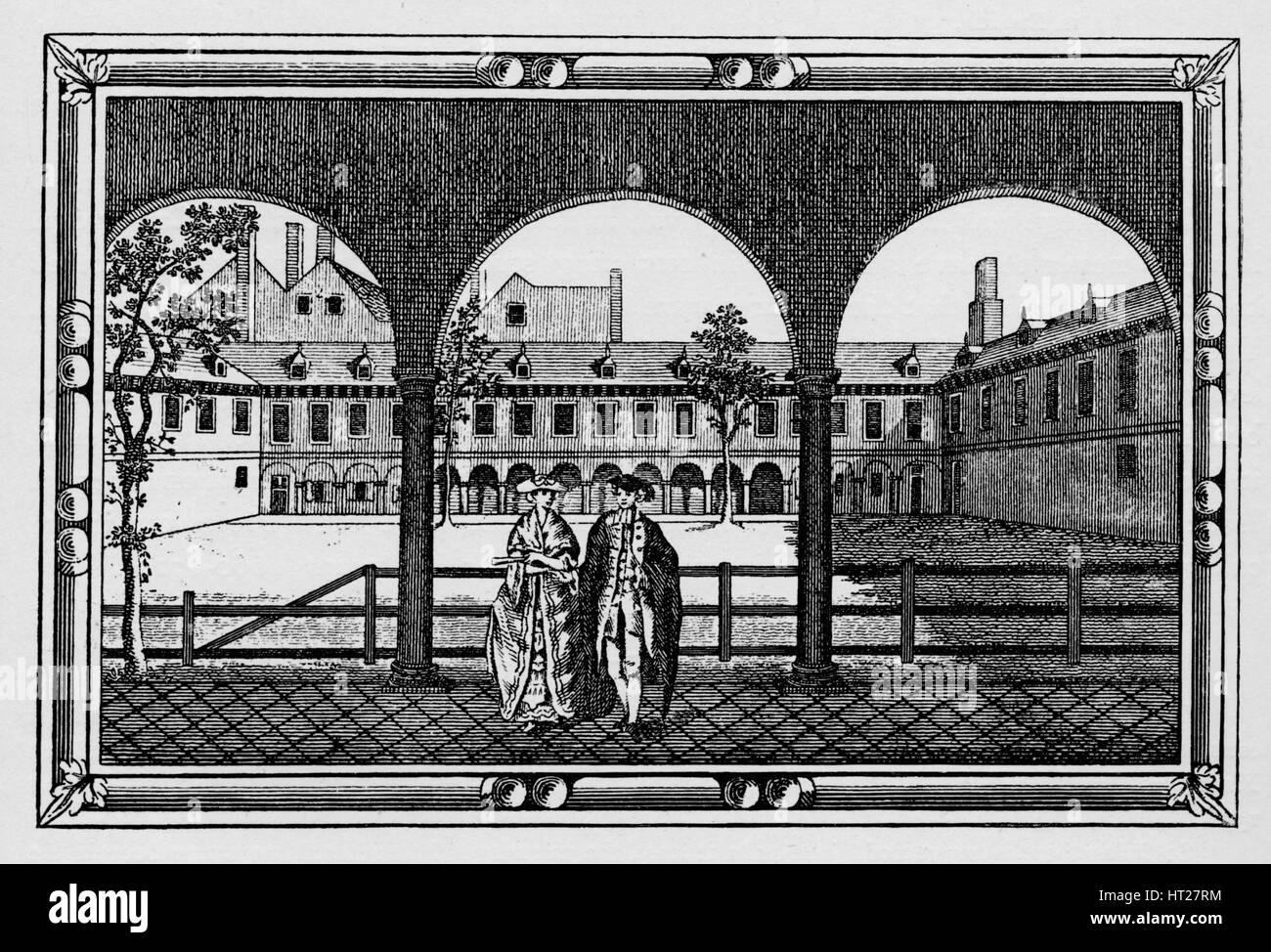 Gresham College, City of London, c18th century (1911). Artist: Unknown. - Stock Image