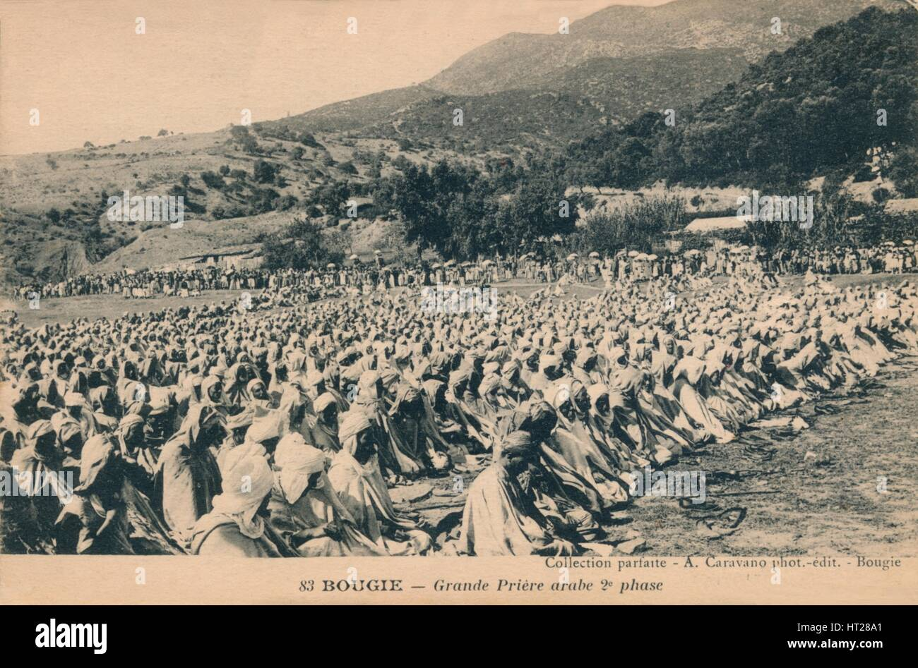 'Bougie - Grande Priere arabe 2e phase', c1900.  Artist: Unknown. Stock Photo