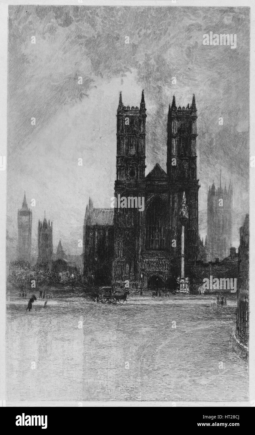 'The Towers of Westminster', c1897. Artist: Francis S Walker. - Stock Image