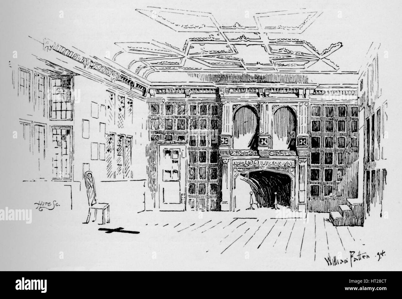 'The Star Chamber. Demolished in 1834', c1897. Artist: William Patten. - Stock Image