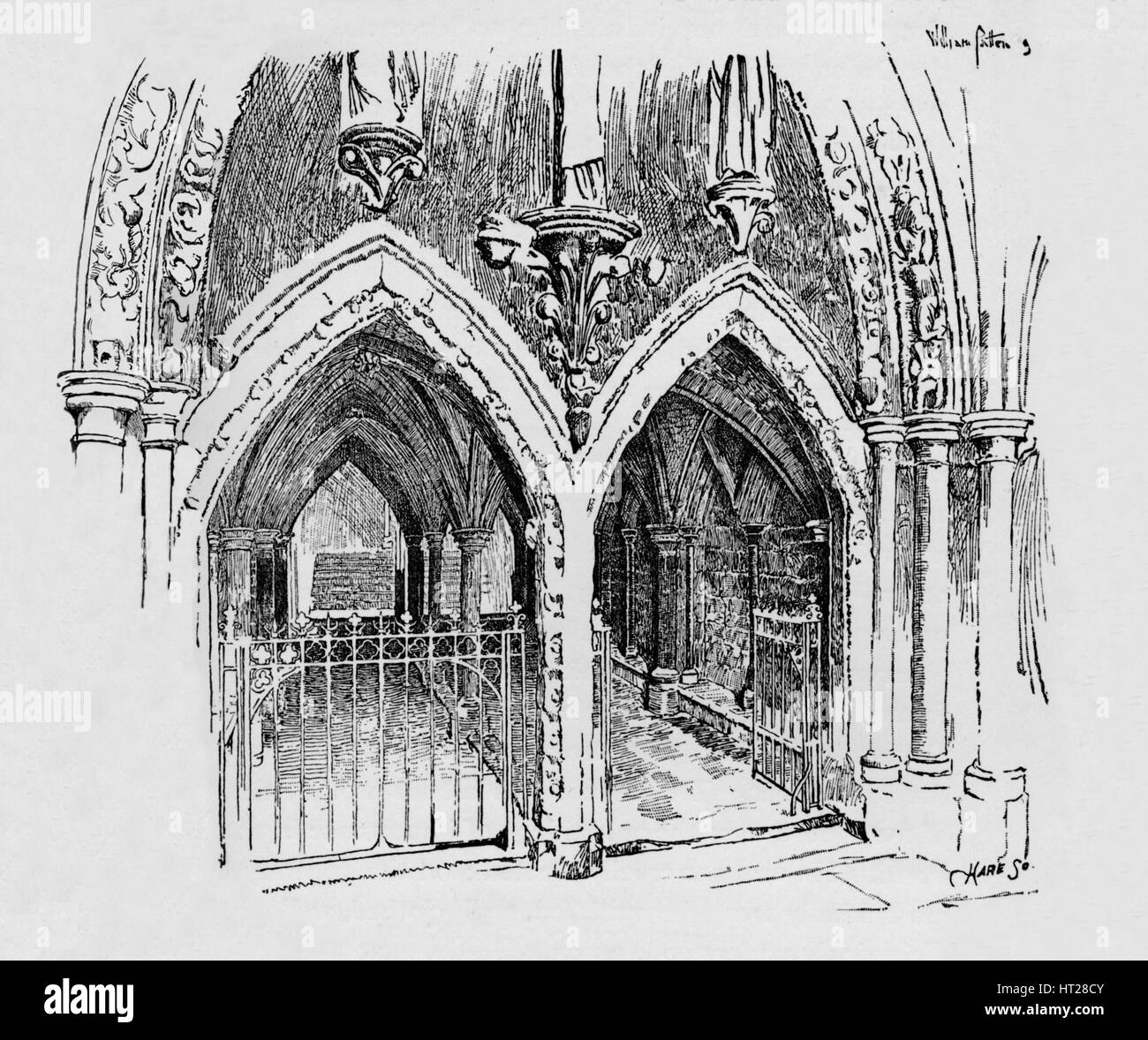 'Entrance to Chapter House', c1897. Artist: William Patten. - Stock Image