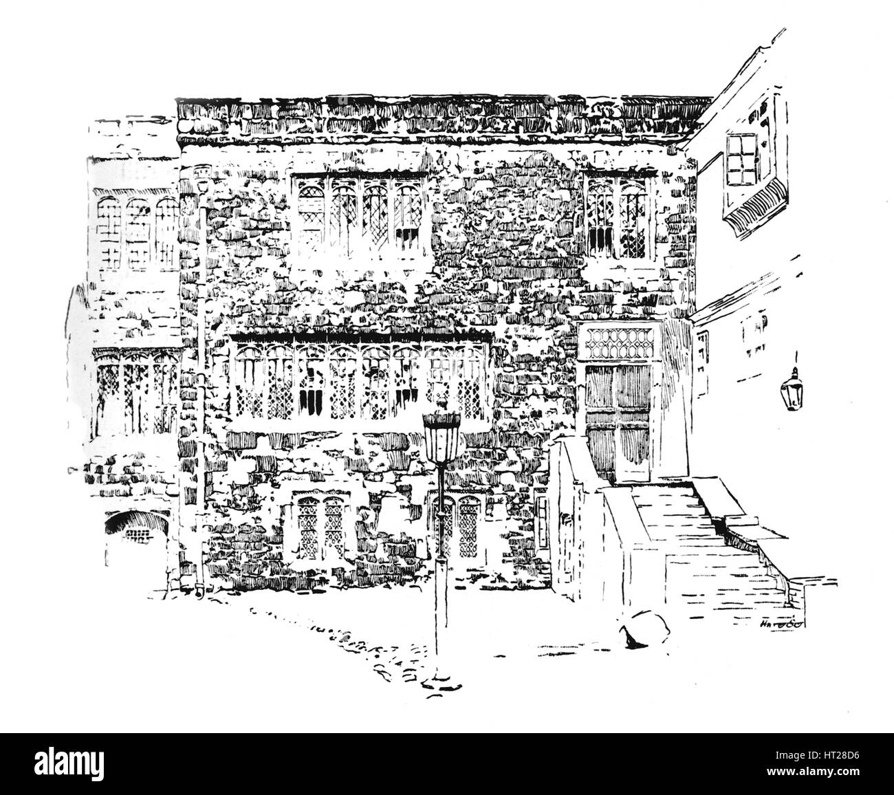 'Jerusalem Chamber. Abbot's Residence, Westminster', c1897. Artist: William Patten. - Stock Image