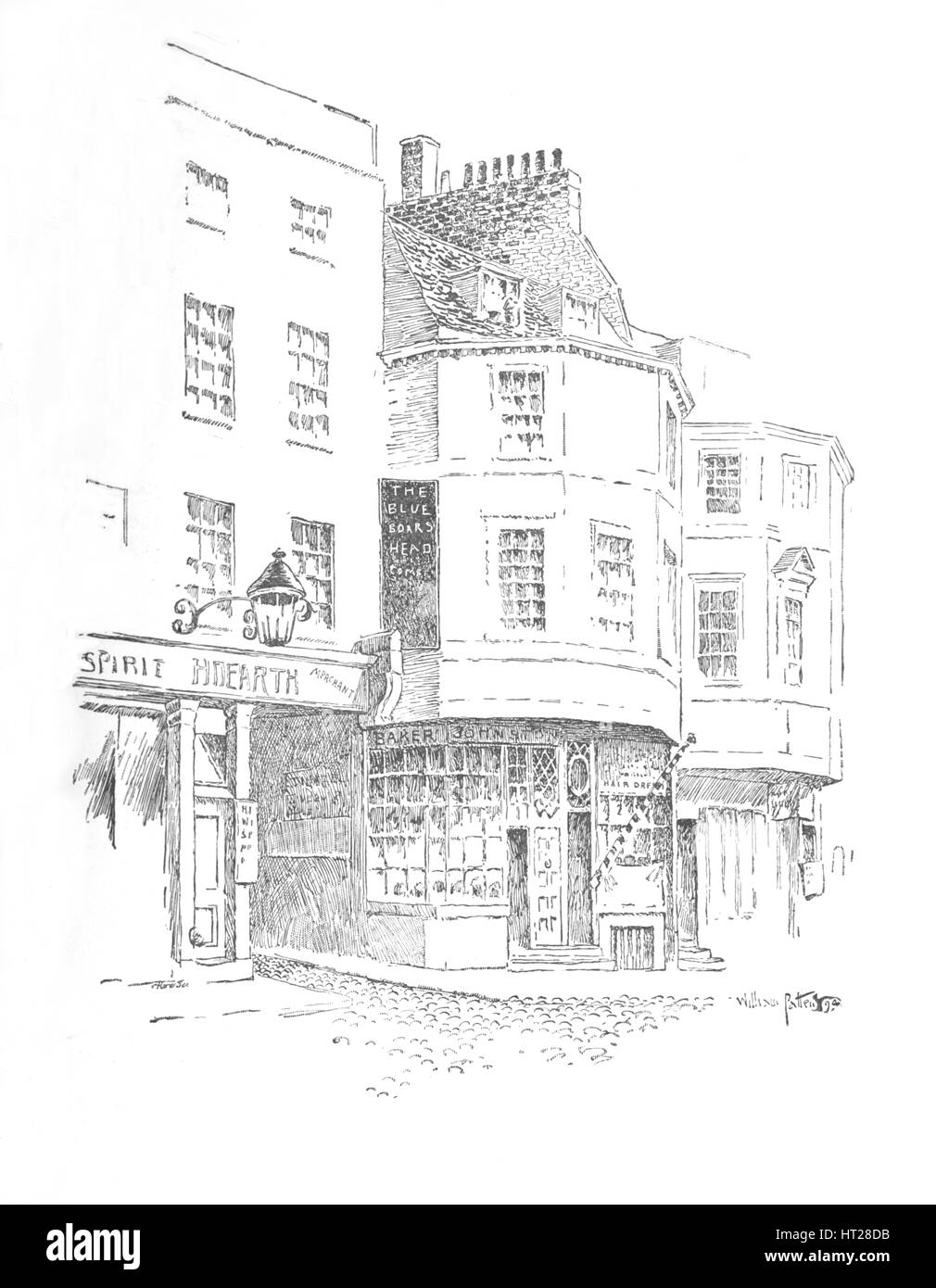 'The Boar's Head Inn, King Street', c1897. Artist: William Patten. - Stock Image