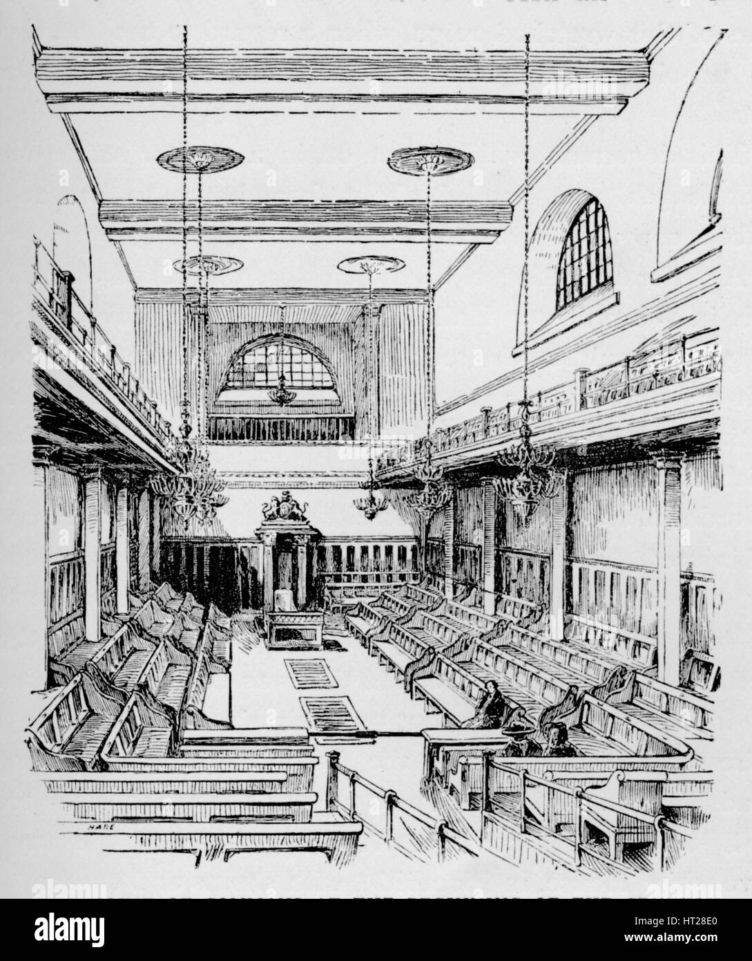 'The House of Commons at the Beginning of the Century', c1897. Artist: William Patten. - Stock Image