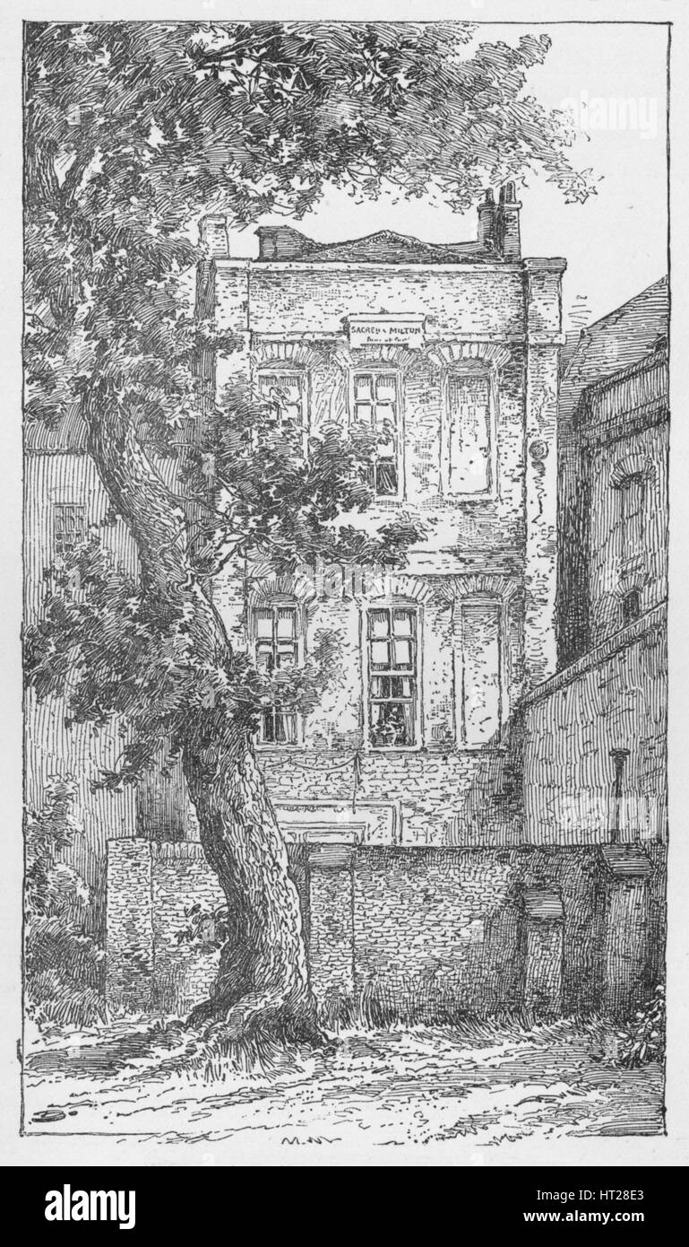 'Milton's House in Petty France', c1897. Artist: William Patten. - Stock Image