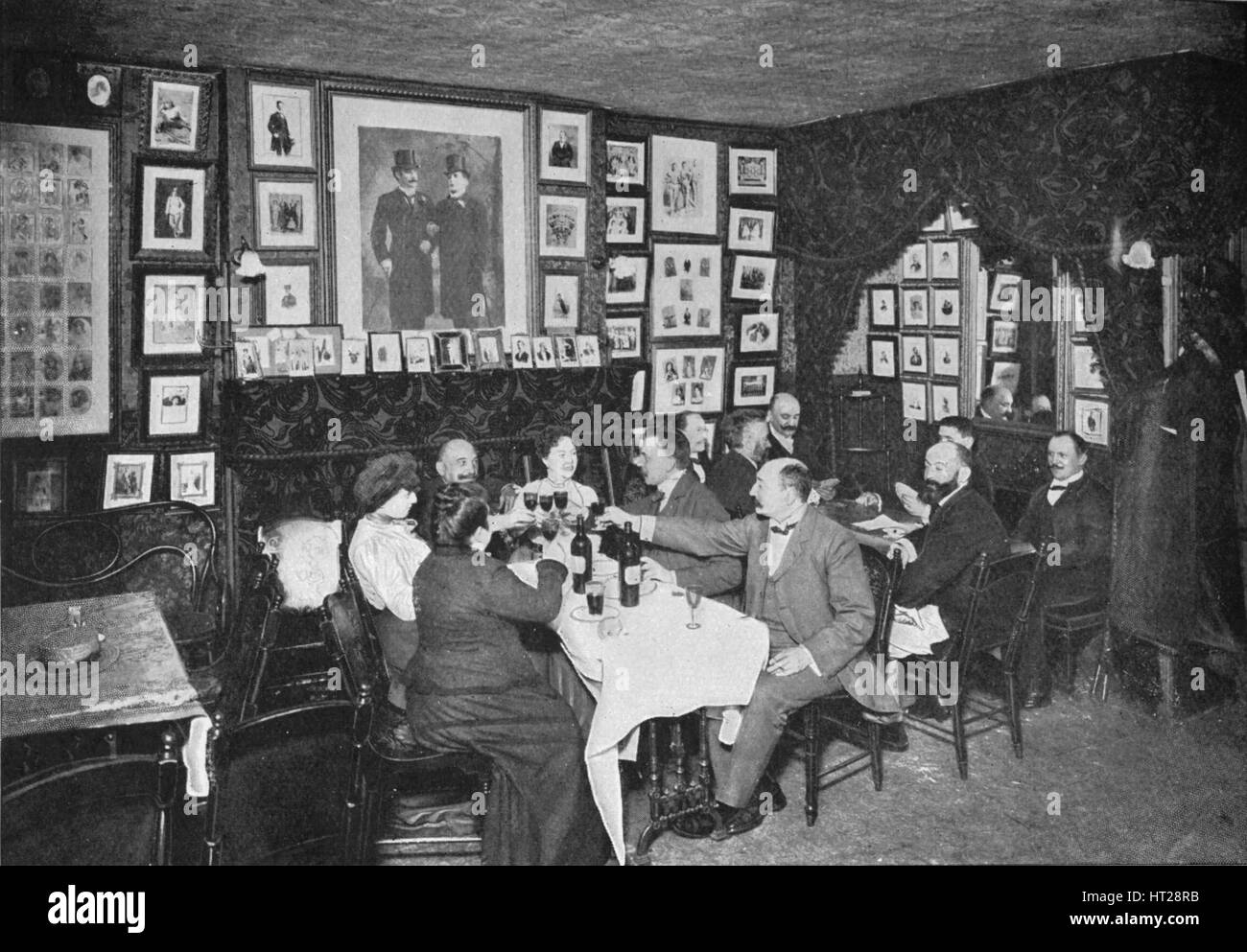 In the Artistes' Club', London, c1901 (1901). Artist: Unknown. - Stock Image