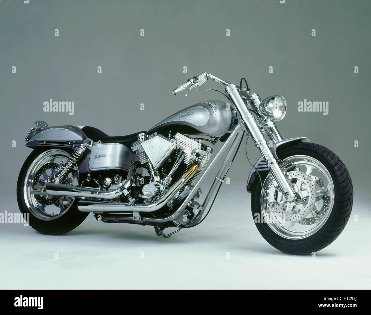 1996 Harley Davidson Pasadena by Battistinis custom conversions. Artist: Unknown. - Stock Image
