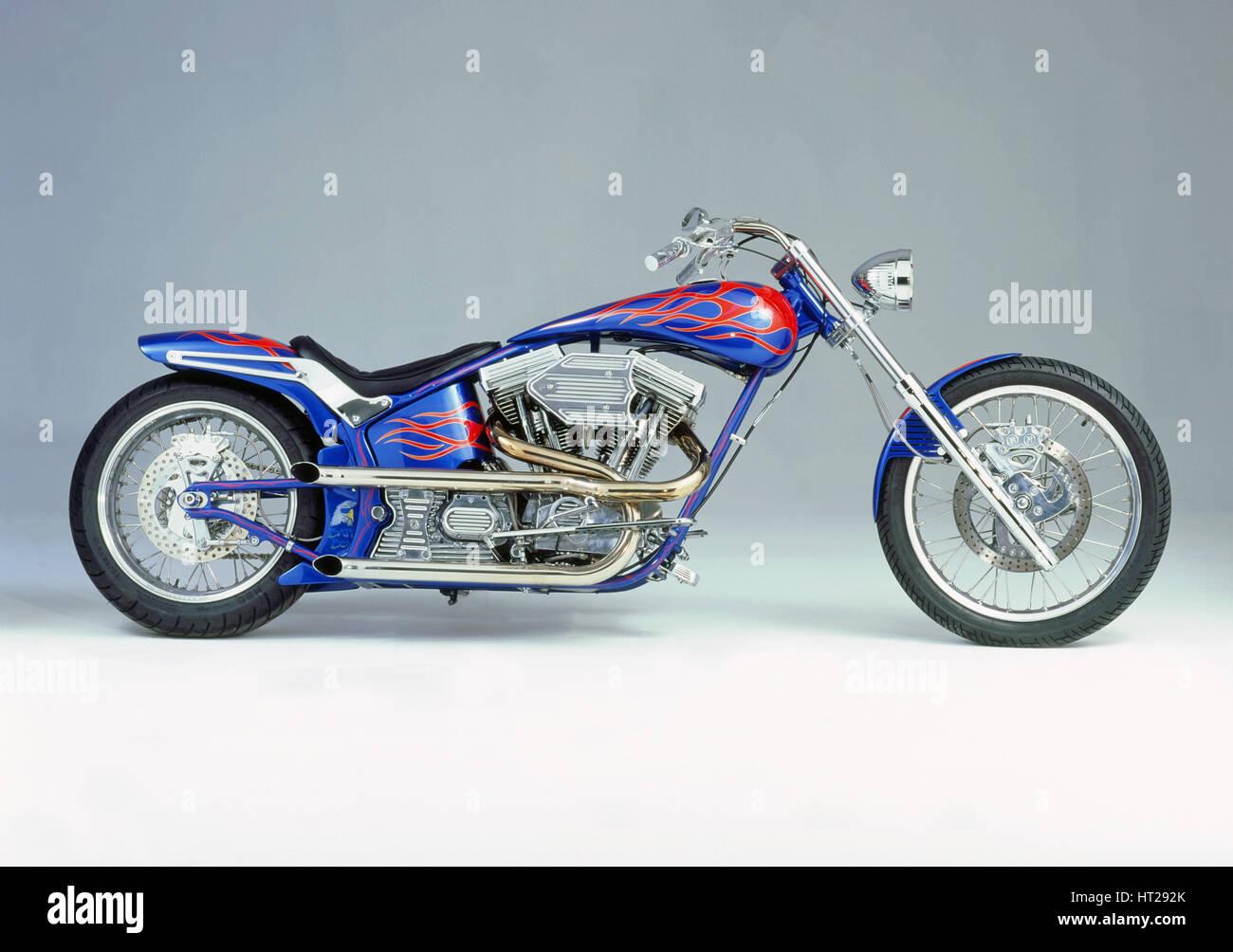 1996 Harley Davidson Batt Boy by Battistinis custom conversions. Artist: Unknown. - Stock Image