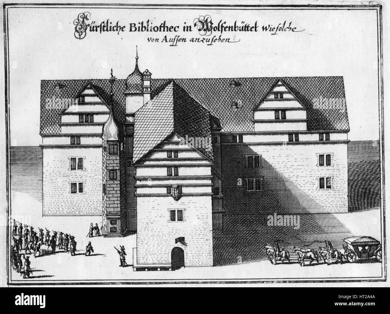 Herzog August Library in Wolfenbüttel, Between 1655 and 1660. Artist: Merian, Matthäus, the Elder (1593-1650) Stock Photo
