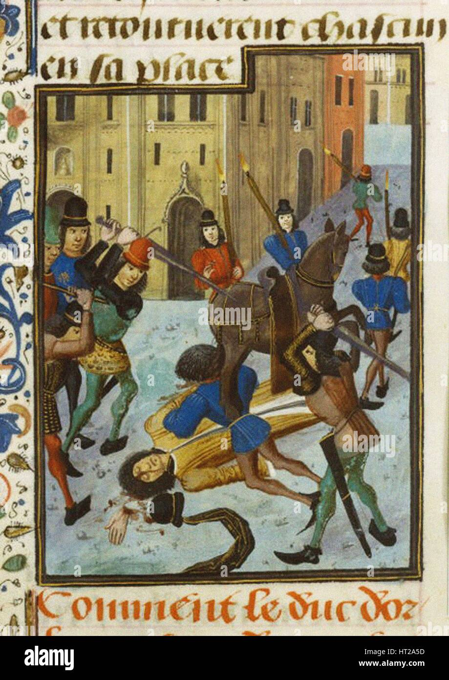 The Assassination of Louis I, Duke of Orléans, ca. 1470-1480.