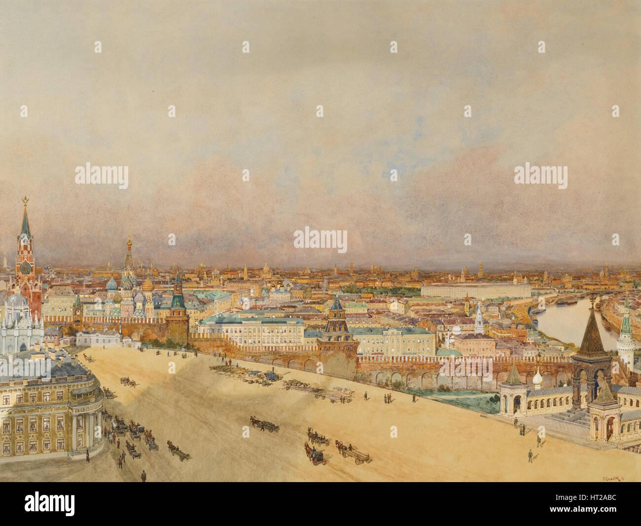 View of Moscow, 1898. Artist: Kopallik, Franz (1860-1931) - Stock Image