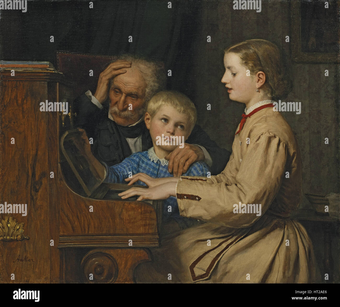 Song of the Homeland, 1874. Artist: Anker, Albert (1831-1910) - Stock Image