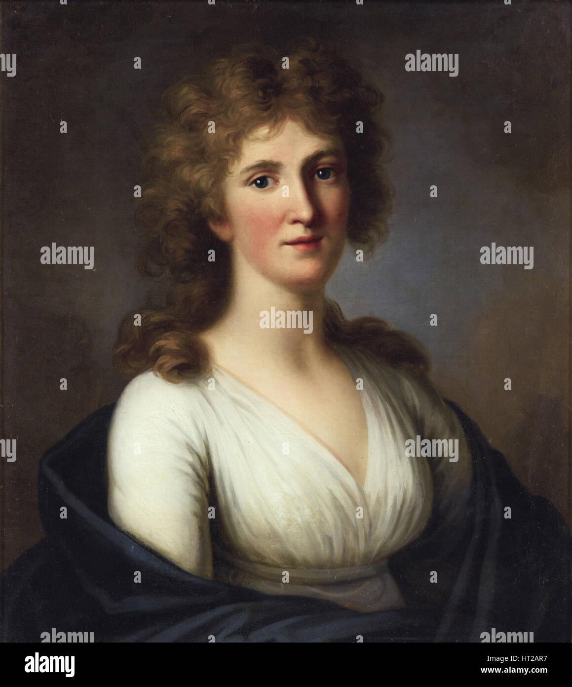 Portrait of Sara Anna von Miltitz (1774-1819). Artist: Tischbein, Johann Friedrich August (1750-1812) - Stock Image