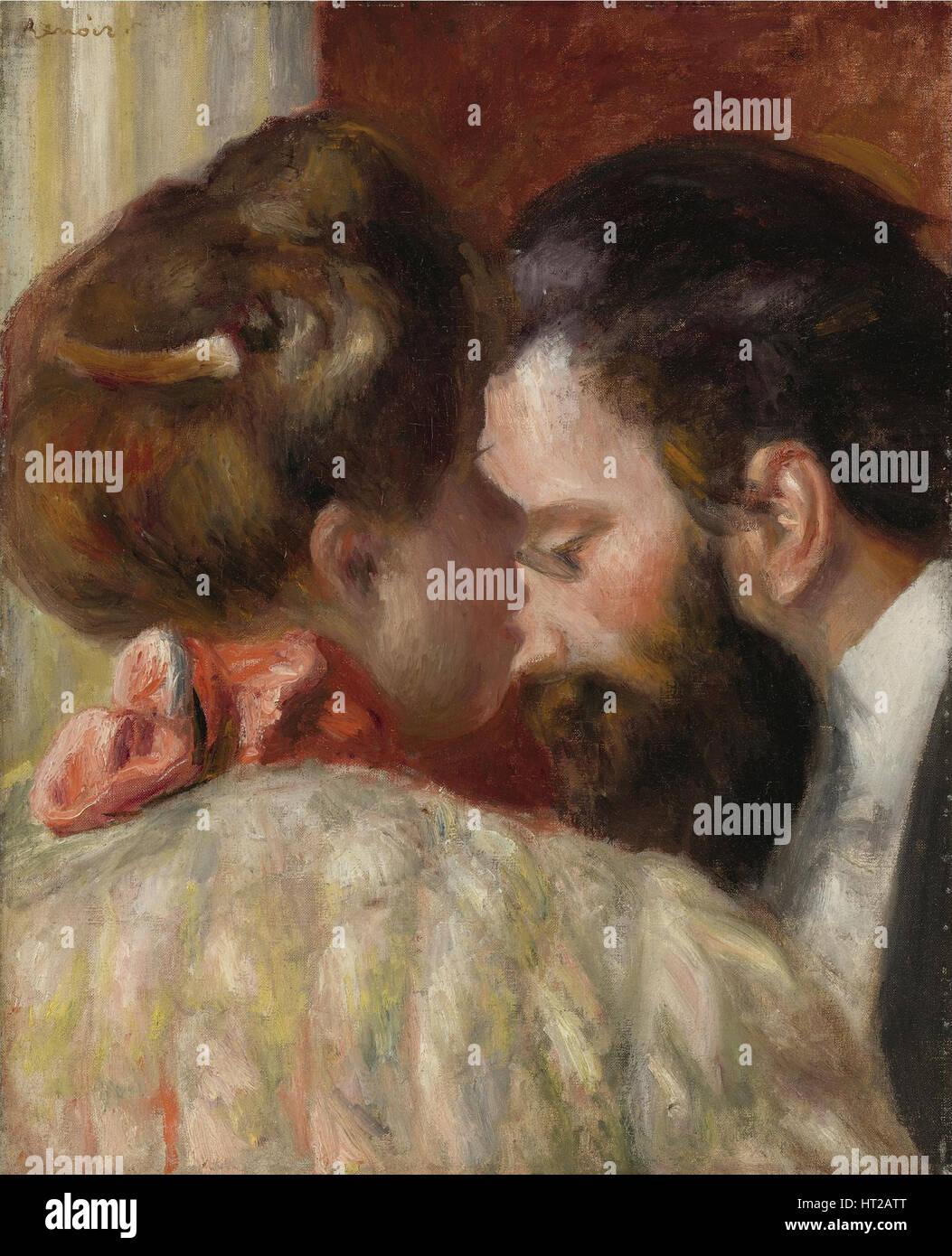 Confidence, 1897. Artist: Renoir, Pierre Auguste (1841-1919) - Stock Image