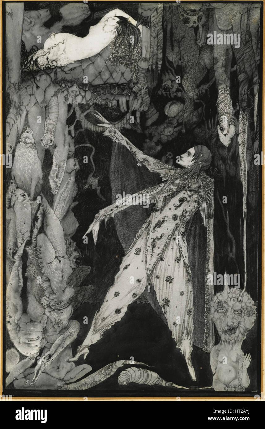Illustration to Goethe's Faust, 1924-1925. Artist: Clarke, Harry (1889-1931) - Stock Image