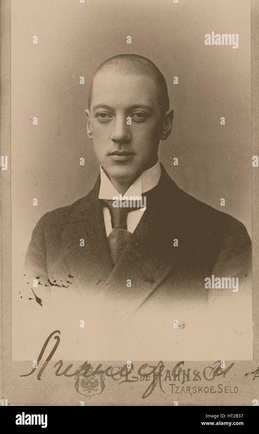 Russian poet Nikolay Gumilyov (1886-1921), ca 1917-1920. Artist: Bulla, Karl Karlovich (1853-1929) - Stock Image