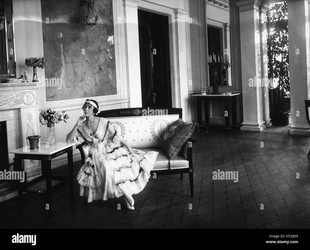 Mathilde Kschessinska (1872-1971), 1916. Artist: Bulla, Karl Karlovich (1853-1929) - Stock Image