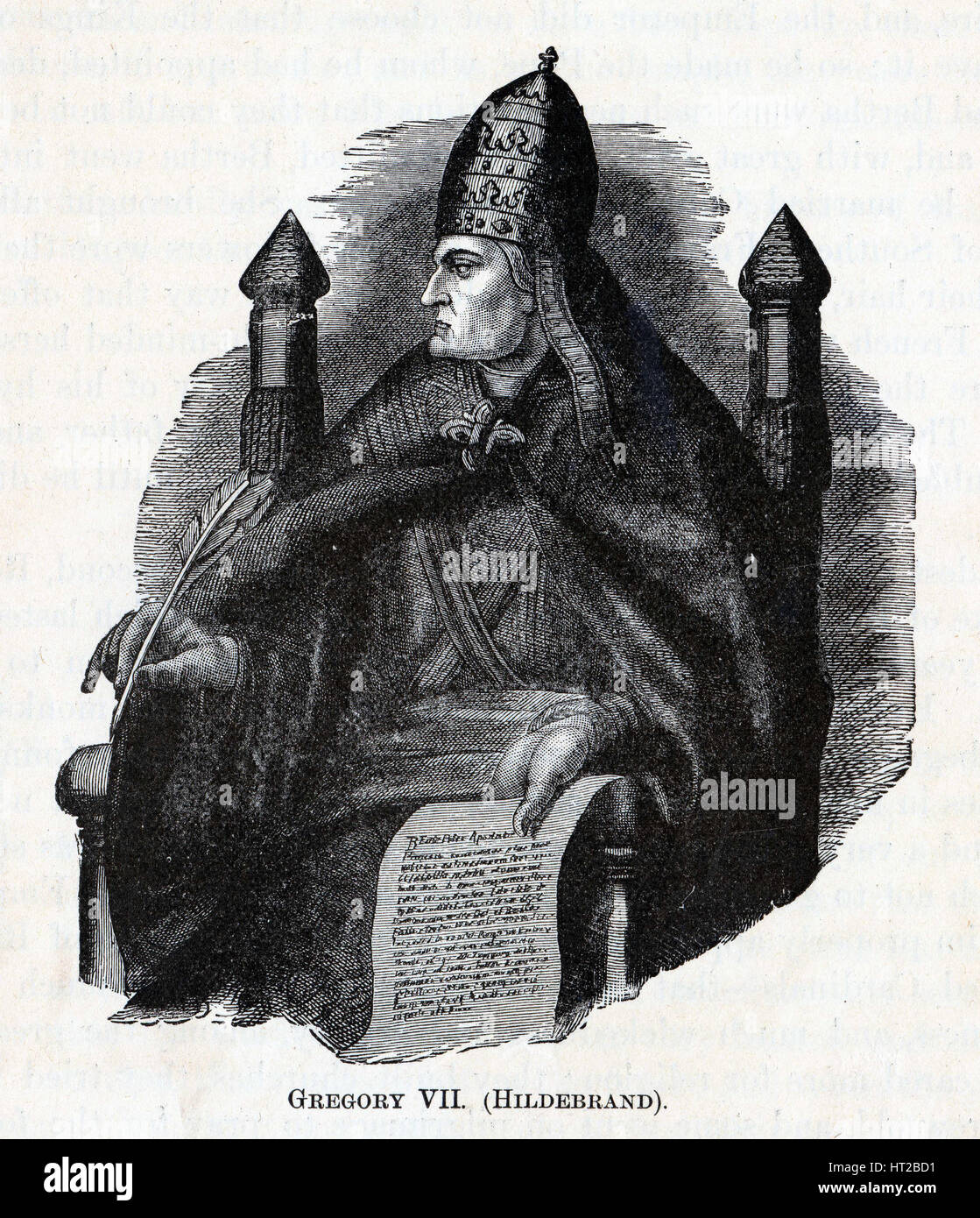 Gregory VII (Hildebrand), 1882. Artist: Anonymous - Stock Image