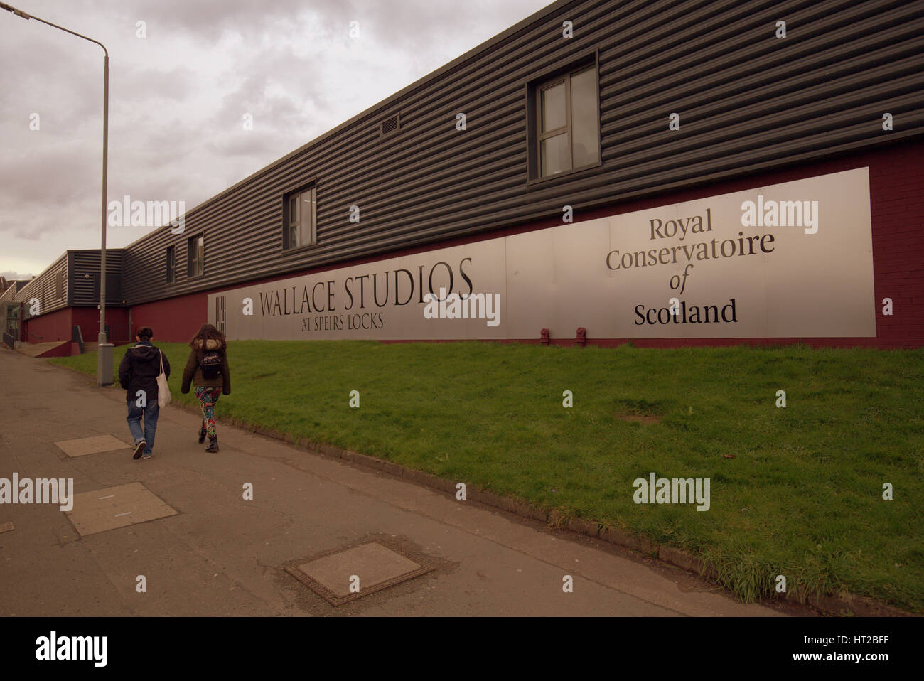 The Royal Conservatoire of Scotland. The Wallace Studios at Speirs Locks was designed by award-winning Malcolm Fraser - Stock Image