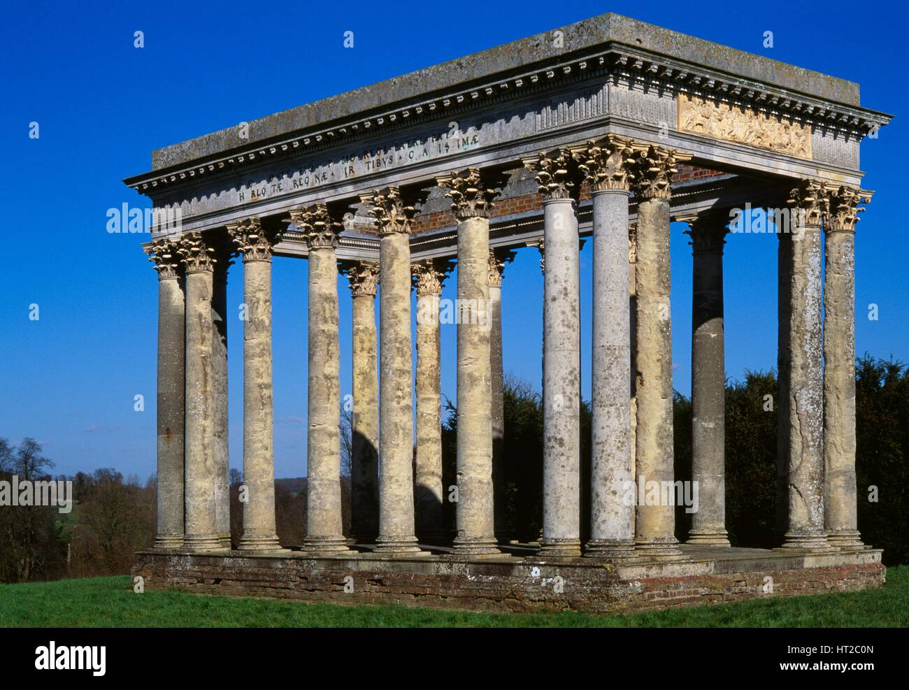 The Temple of Concord, Audley End House and Gardens, Saffron Walden, Essex, c2000s(?). Artist: Marianne Majerus. - Stock Image