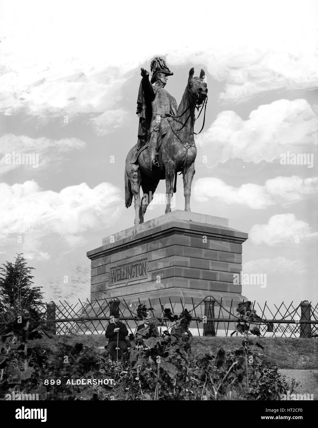 Statue of the Duke of Wellington, Round Hill, Aldershot, Hampshire, c1870-c1900. Artist: York & Son. - Stock Image