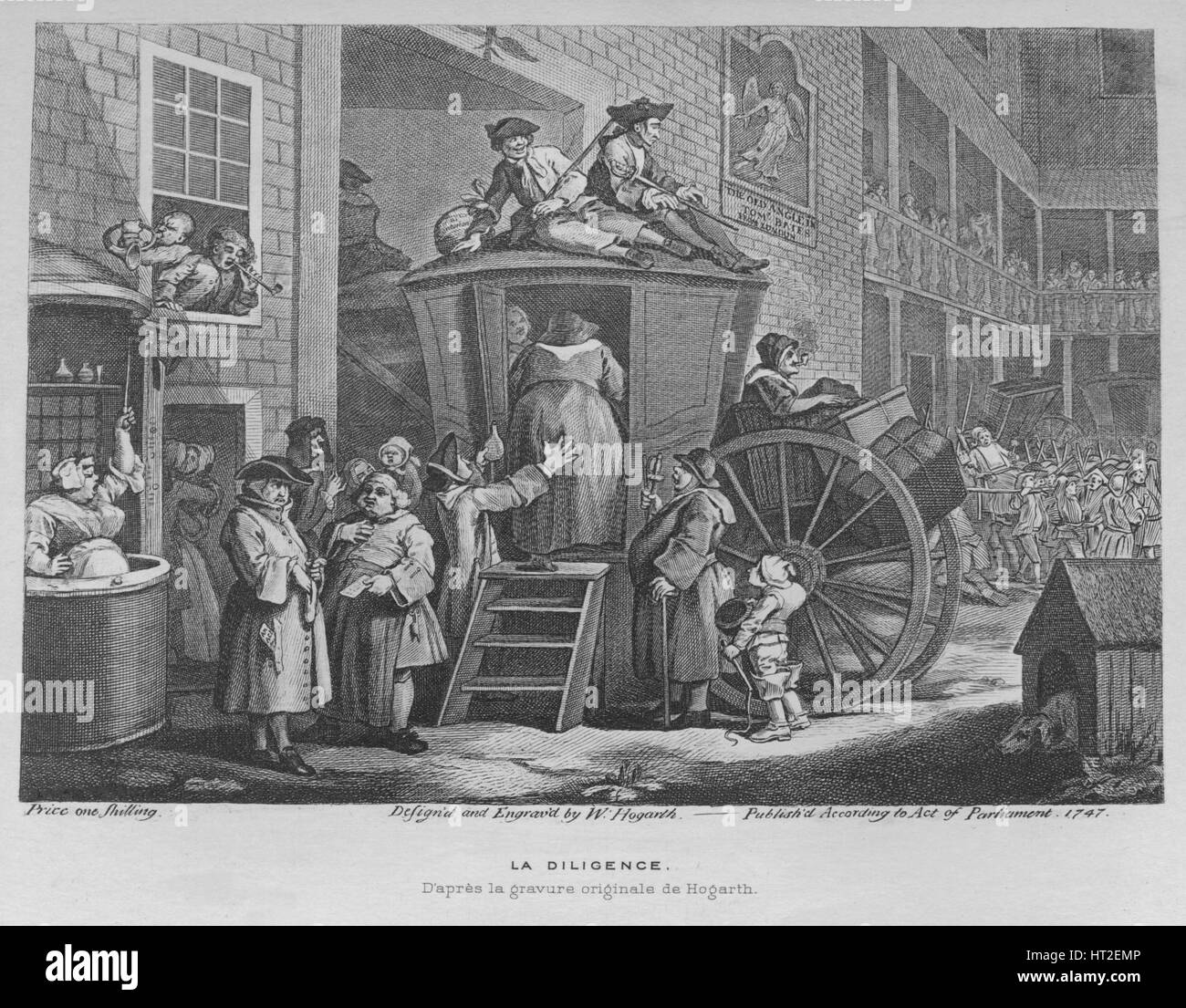 'The Stage Coach or Country Inn Yard', 1747. Artist: William Hogarth.