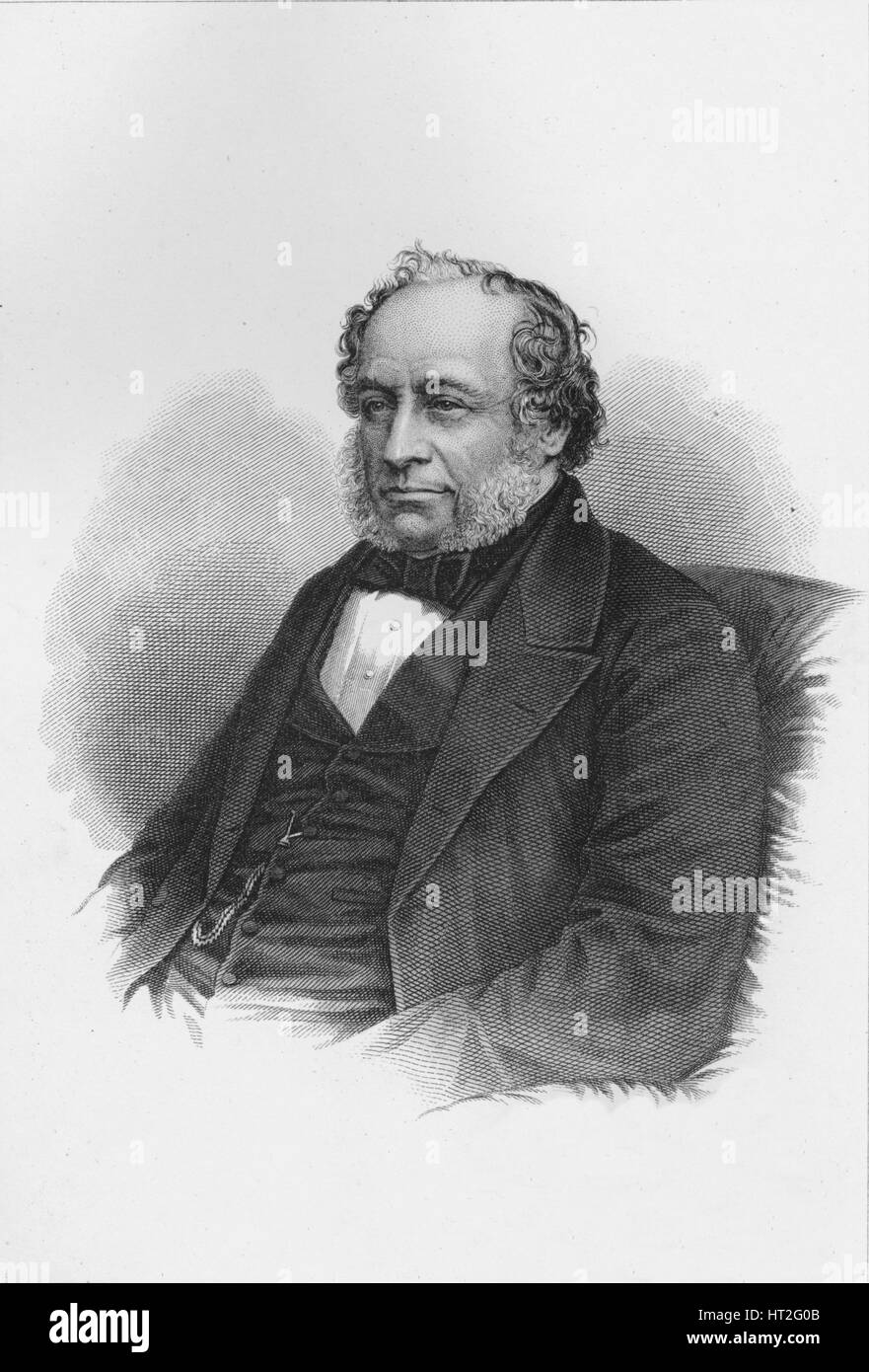 Sir Charles Barry, British architect, c1840 (1878). Artist: Unknown. - Stock Image