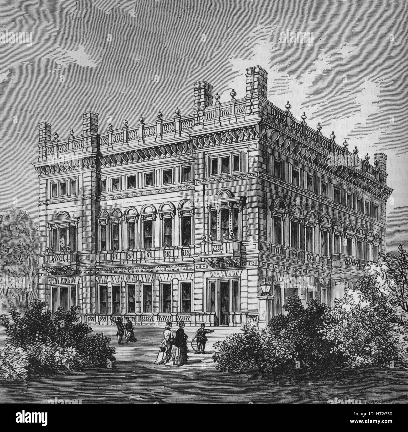 Bridgewater House, Westminster, London, c1875 (1878). Artists: Unknown, Sir Charles Barry. - Stock Image