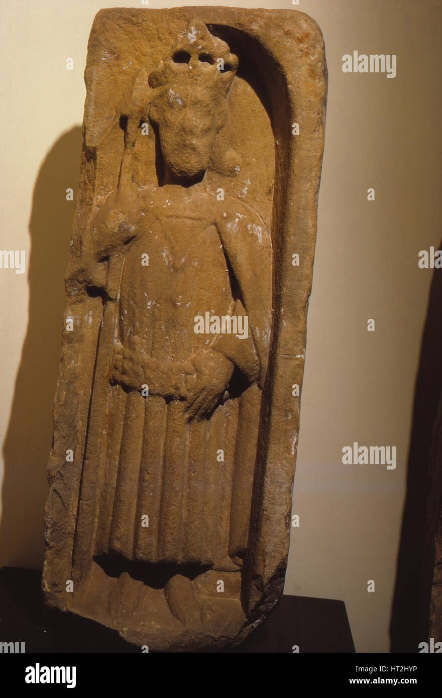 Relief figure of King Olaf, from St. Magnus Cathedral, Kirkwall, Orkney, 20th century. Artist: Unknown. - Stock Image