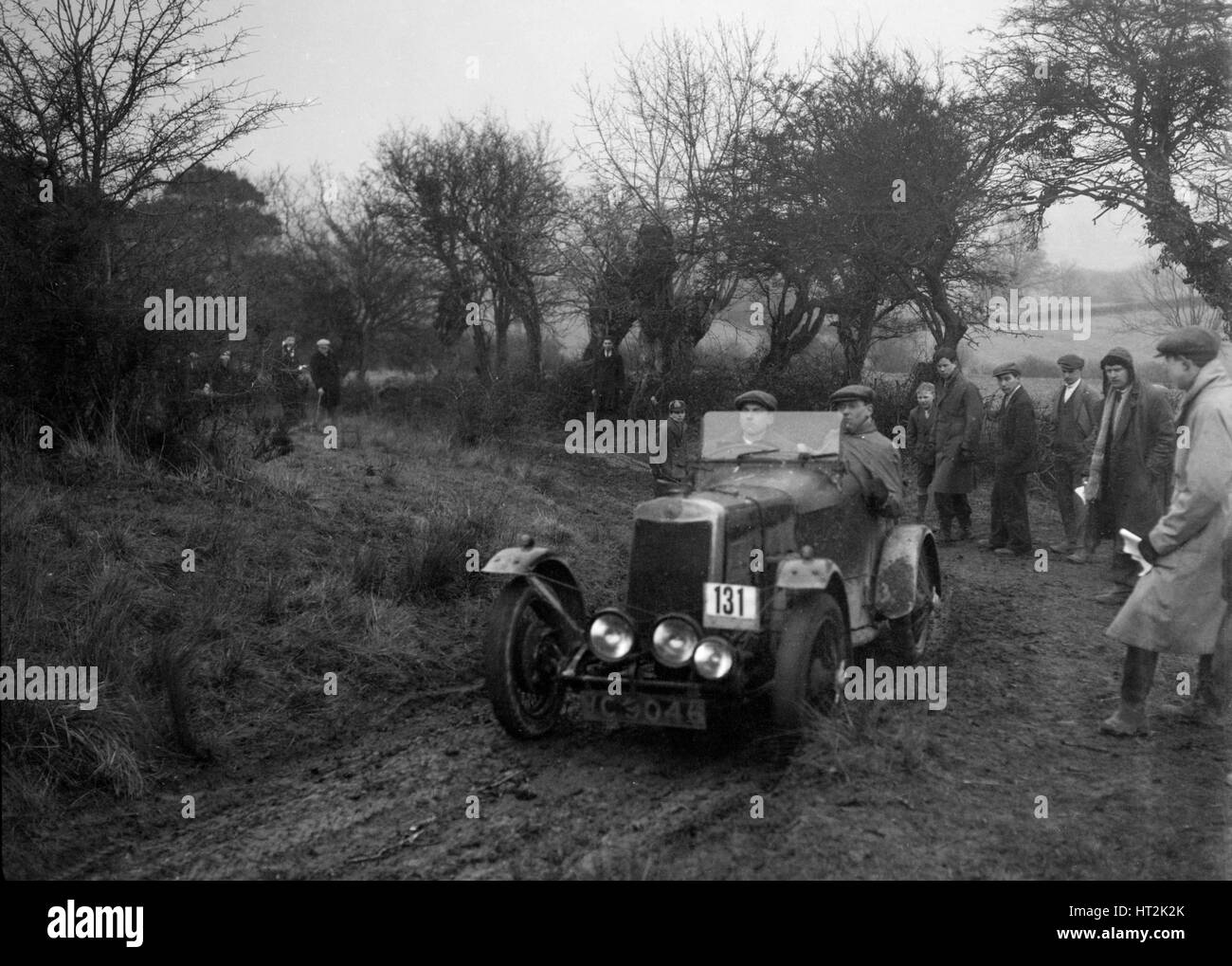 Lea-Francis of CH Wagstaff at the Sunbac Colmore Trial, near Winchcombe, Gloucestershire, 1934. Artist: Bill Brunell. - Stock Image