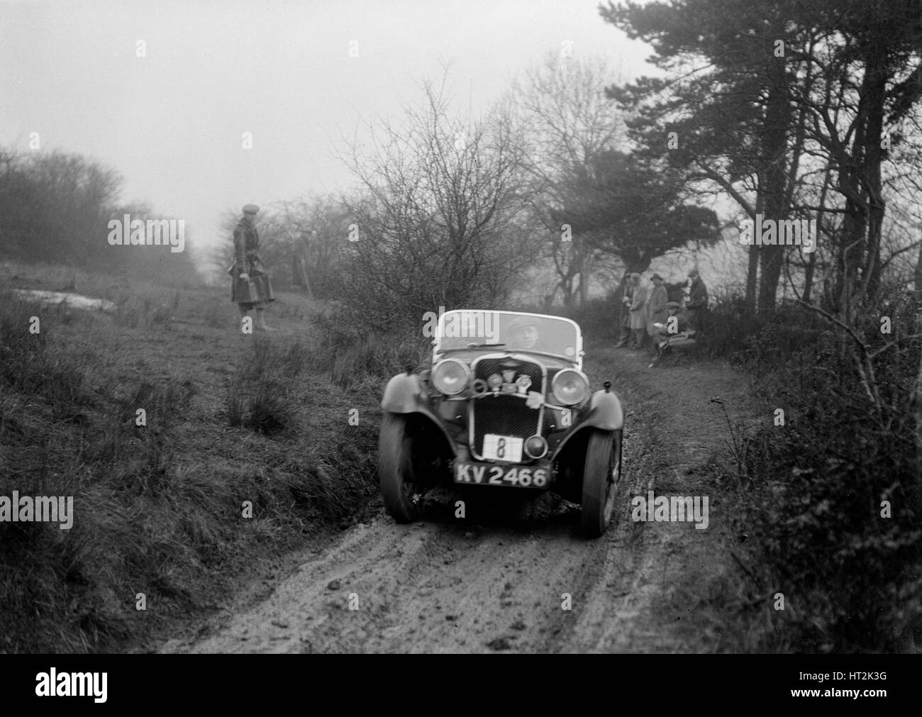 Singer of AE Carr at the Sunbac Colmore Trial, Gloucestershire, 1934. Artist: Bill Brunell. - Stock Image