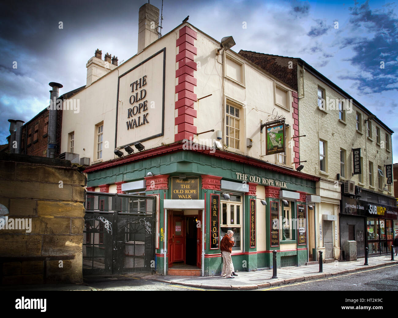 The Old Rope Walk public house in Newington Liverpool. - Stock Image