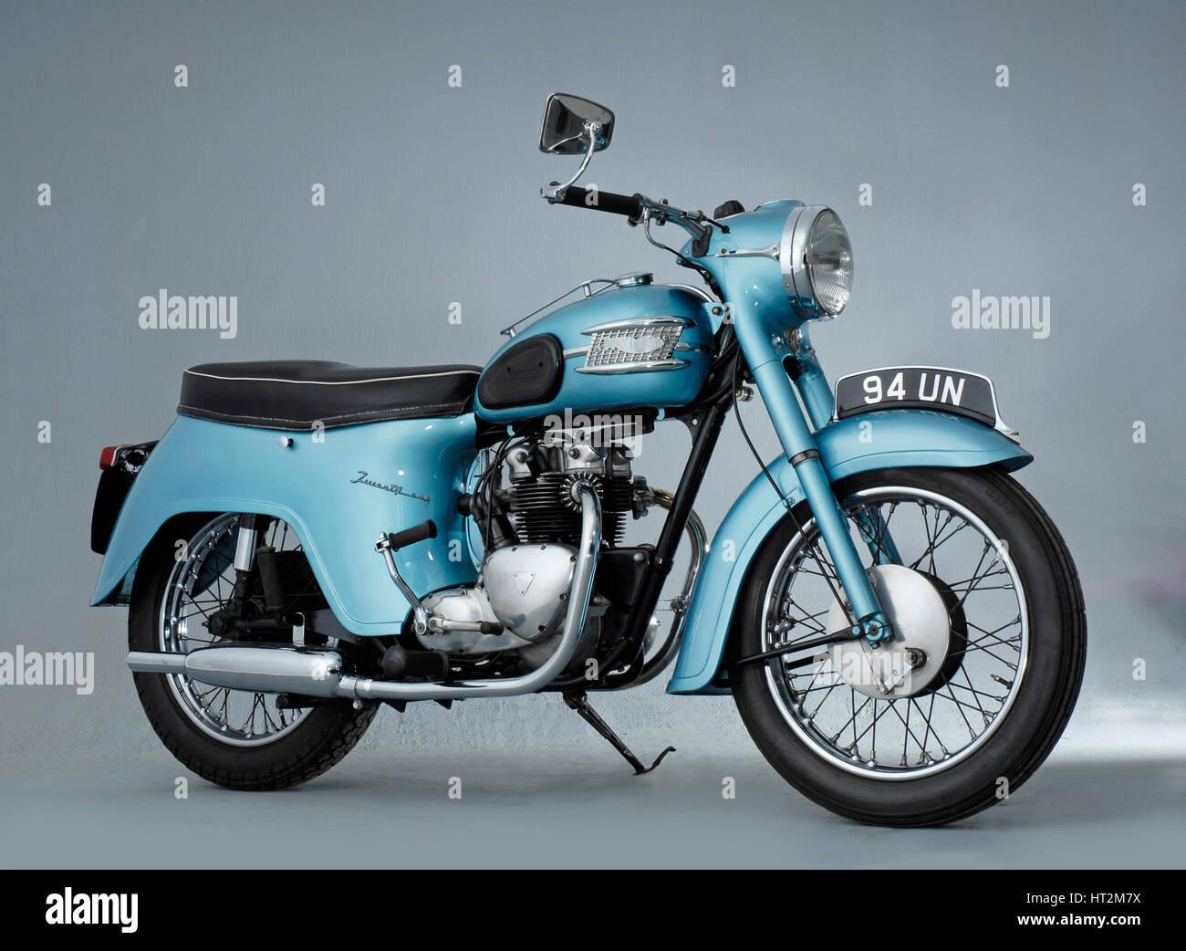1962 Triumph 3TA. Artist: Unknown. - Stock Image