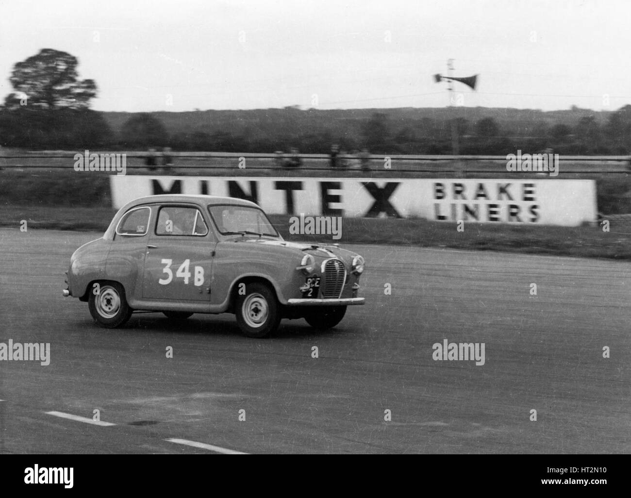 Austin A35 at 750 MC 6 hour relay race Silverstone 1957 Artist: Unknown. - Stock Image