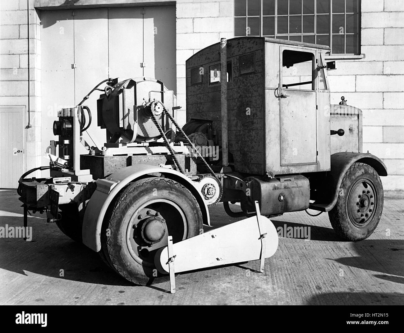 1946 Scammell Chain drive Special tractor Artist: Unknown. - Stock Image