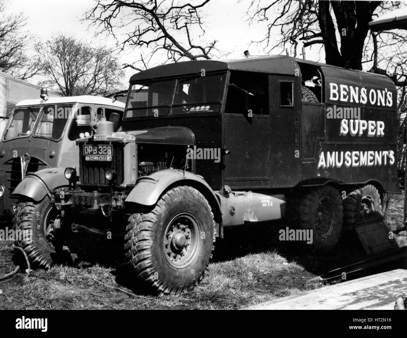 1950 Scammell Challenger truck Artist: Unknown. - Stock Image