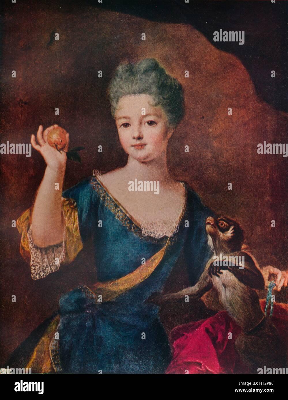 'Princess Anne De Bourbon-Conti',  17th century, (c1927). Artist: Alexis Simon Belle. - Stock Image