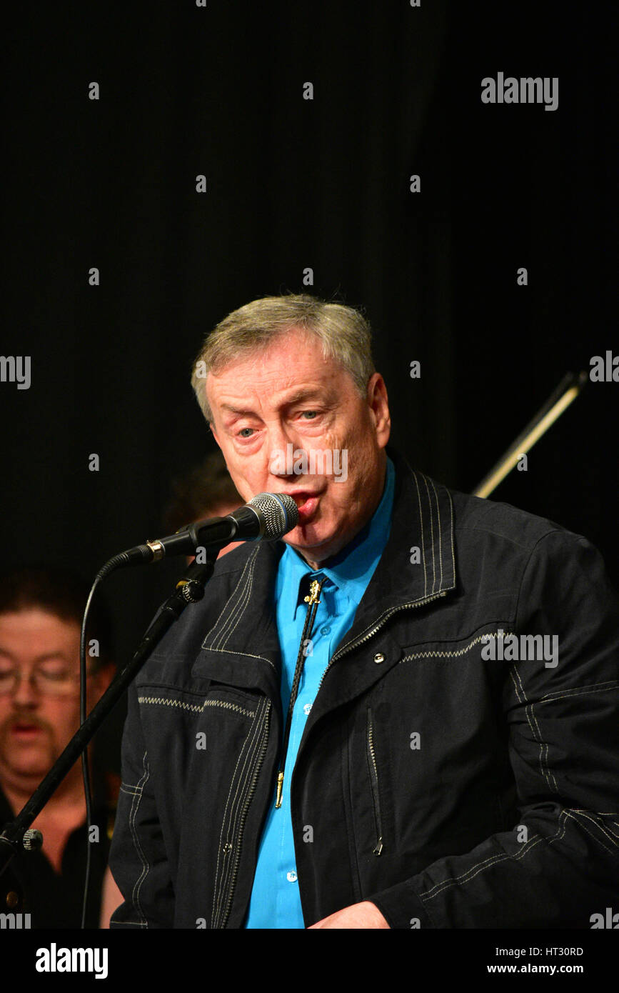 Irish Country sensation Crawford Bell live on stage during An Evening Country Music stars live concert in memory - Stock Image