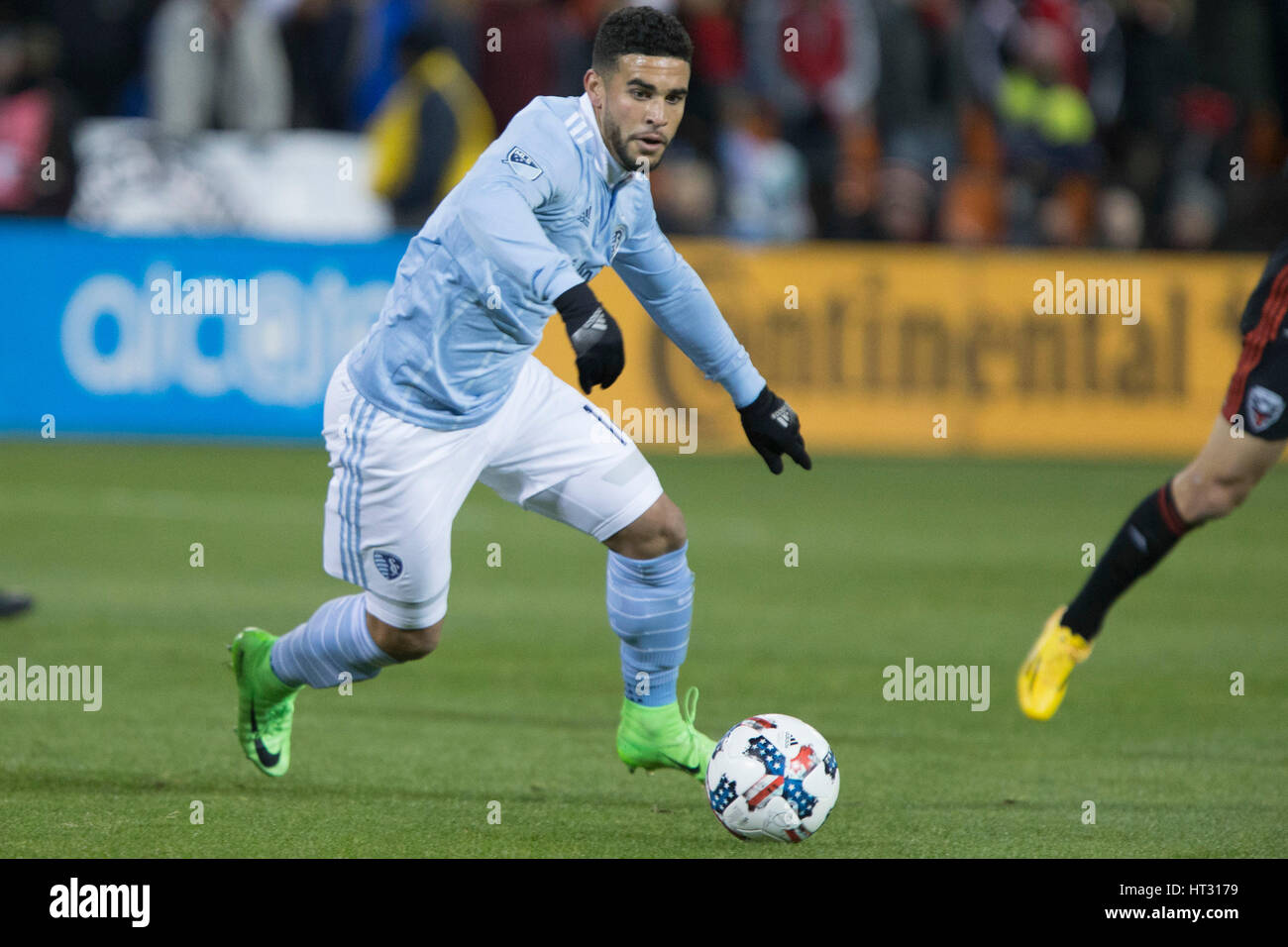 Sporting Kansas City forward Dom Dwyer (14) at RFK Stadium in Washington, D.C. on Saturday March 4, 2017. - Stock Image
