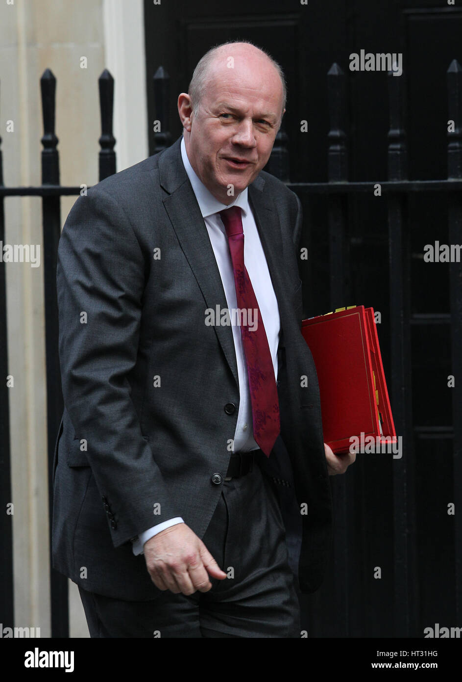 London, UK. 07th Mar, 2017. Damian Green MP Secretary of State for Work and Pensions seen arriving in Downing street - Stock Image